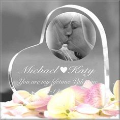 Laser Engraved Heart Keepsake Personalized With Text/Photos/Logos