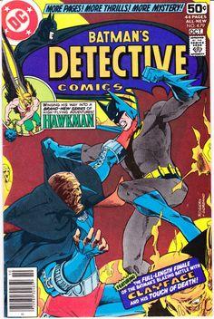 Batman and Clayface in Detective Comics 479, Hawkman comic book and Robin…