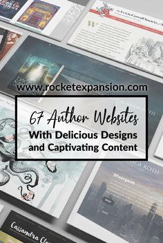 67 Author Websites With Delicious Designs and Captivating Content