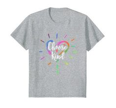 Choose Kind Heart Anti Bullying T-Shirt Student Teachers. Cool T-Shirts Cool Tee Shirts, Funny Tshirts, Casual Style For Men Over 50, Baseball Shirts For Moms, Heart Shirt, Classy Men, Anti Bullying, John Daly, Shirt Shop