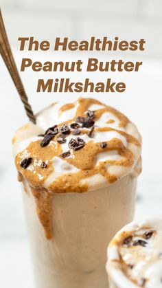Healthy Sweets, Healthy Breakfast Recipes, Snack Recipes, Dessert Recipes, Cooking Recipes, Peanut Butter Milkshake, Healthy Peanut Butter, Peanut Butter Recipes, Yummy Drinks