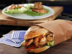 Shrimp Po' Boy with Oyster Shooter on the Side Recipe : Bobby Deen : Food Network