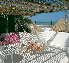 This charming boutique hotel is next to the beach just outside Playa Oriente on Mexicos Emerald Coast. Hotel Azucar Monte Gordo Mexico R:Veracruz hotel Hotels Outdoor Spaces, Outdoor Living, Outdoor Decor, Outdoor Pool, Monte Gordo, Parrilla Exterior, Architecture Classique, Le Riad, Terrasse Design