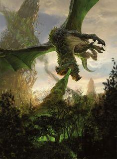 Dark Fantasy Art, Fantasy Artwork, Fantasy World, Mythical Creatures Art, Fantasy Creatures, Magic The Gathering Sets, Beast Creature, Mtg Art, Fantasy Beasts