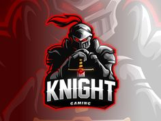 Knight by Dadang Sudarno on Dribbble Logo Chevalier, Assassin Logo, Logo Professionnel, Gaming Logo, Tolle Logos, Post Apocalyptic City, Knight Logo, Knight Games, Game Logo Design