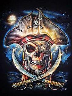 *PIRATES of the CARIBBEAN Arte Pirata, Teschio Pirata, Bandiere Pirata,  Navi Pirata