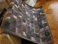 Mitered Square Afghan pattern by Plymouth Yarn Design Studio