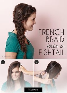 The side fishtail braid is an easy, pretty option for Homecoming