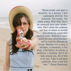 perfectly said Zooey Deschanel. love her.