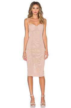 Misha Collection Adreanna Dress in in Nude- medium