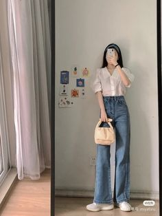 Korean Casual Outfits, Korean Outfit Street Styles, Style Outfits, Mode Outfits, Cute Casual Outfits, Pretty Outfits, Korean Girl Fashion, Korean Fashion Trends, Ulzzang Fashion