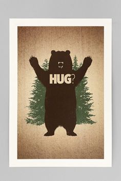 Matthew J. Parsons Bear Hug Art Print #urbanoutfitters
