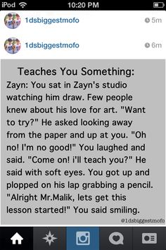 Zayn teaching you how to draw