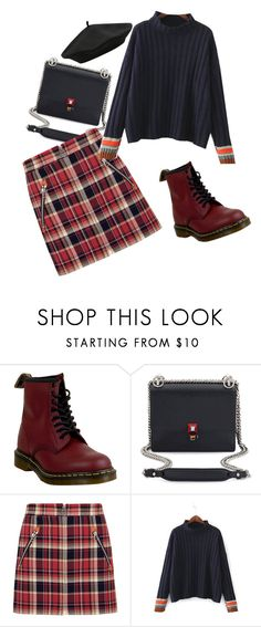 """Студент"" by dashauday on Polyvore featuring Dr. Martens, Fendi, rag & bone and M&Co"