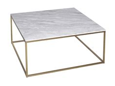 Square Coffee Table - Kensal MARBLE with BRASS base - Square coffee table with marble top and satin £719
