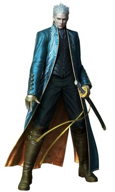 Vergil Voiced by: Hiroaki Hirata (Japanese), Daniel Southworth (English)  Nero's father, who becomes immortal.