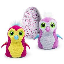 Hatchimals Pengualas Pink Egg  One of Two Magical Creatures Inside - Scarlett pink and white
