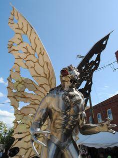 The Mothman statue in West Virginia.