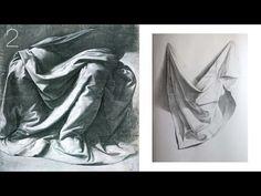 Art Shima - Как Рисовать Драпировку карандашом / Учимся Рисовать Складки Ткани. Часть 2