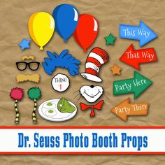 Old Market Corner: Dr. Seuss Photo Booth Printable Props