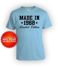 Personalized Birthday Gifts For Him 50th Shirt Custom T Bday Present Made In 1968