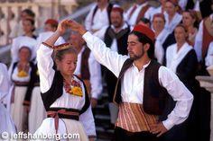 Traditional Croatian dancers
