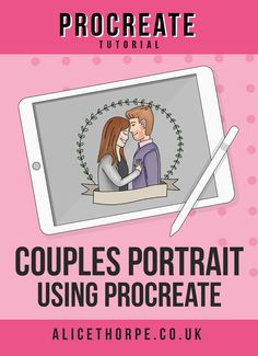 Procreate is an amazing bit of kit for many different things. But one of my favourites has to be couples portraits. Today I'm talking you through how I created this super cute little portrait as a commission piece to be printed. Portrait Cartoon, Vector Portrait, Procreate Tutorial, Cartoon Tutorial, Inkscape Tutorials, Animation Tutorial, How To Make Animations, Affinity Designer, Couple Cartoon