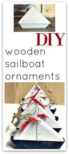 Scrap Wood Summer Sailboat Ornaments | Homeroad.net #Christmas #ornaments #diyornaments #Christmasdecorations #holidaydecor #coastalChristmas #holidaydecor