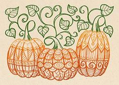 Patterned Pumpkins | Urban Threads: Unique and Awesome Embroidery Designs
