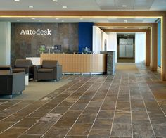 Tile Floor/Stone wall Autodesk Corporate Offices