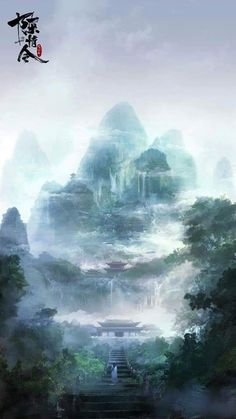 My fantasy, The Untamed/Mo Dao Zu Shi Best fantasy novels to free read on Fantasy Art Landscapes, Fantasy Landscape, Landscape Art, Scenery Wallpaper, Wallpaper Backgrounds, Arte 8 Bits, Chinese Landscape, Anime Scenery, Fantasy World