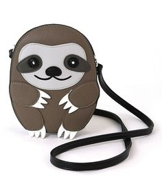 Love this Gray Baby Sloth Crossbody Bag on #zulily! #zulilyfinds