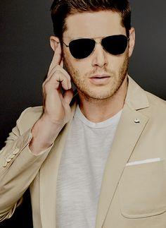 "simplyjensendaily: """"Jensen Ackles EW Comic Con Portraits "" """