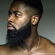 black man with beard