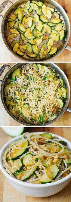Parmesan Zucchini & Garlic Pasta