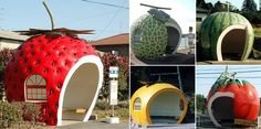 t to serve as an attractive gateway for travelers entering the Nagasaki Prefecture. According to the Isahaya City web site, the creators got the idea for these unusual shapes from the famous