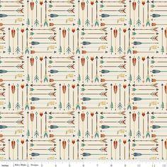 Design by Dani for Riley Blake, High Adventure, Arrow Cream, Fabricworm brings you the latest in Modern fabrics! Woodland Fabric, Rustic Fabric, Arrow Fabric, Baby Flannel, Arrow Print, General Crafts, Riley Blake, Fabric Design, Printing On Fabric