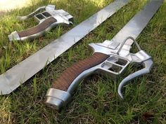 Attack on Titan: Swords #cosplay #props [Holy crap, someone made working swords from Attack on Titan!]