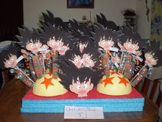 souvenirs de dragon ball:TUTORIAL Dragon Ball Z, Dragon Z, 6th Birthday Parties, 3rd Birthday, Family Presents, Little Brothers, Family Christmas, Baby Shower Parties, Projects To Try