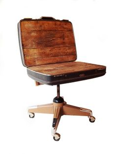 Upcycled Suitcase Chair made from Reclaimed by 2BEESFurniture, $250.00