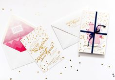 Pink Gold Foil Confetti Wedding Invitations Coral Megan + Mikes Whimsical Pink and Gold Confetti Wedding Invitations Colorful Wedding Invitations, Glitter Wedding Invitations, Pink Wedding Invitations, Wedding Confetti, Wedding Invitation Design, Wedding Stationery, Gold Confetti, Invites, Stationery Design