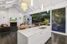 Property located at , Grey Lynn, New Zealand Open Plan Kitchen Diner, Glass Extension, Family Room, Doors, Table, Furniture, Image, Extensions, Kitchens