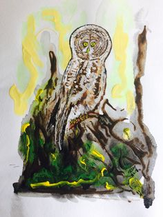 Great Gray Owl by RobertsOriginalArt on Etsy Great Grey Owl, Gray Owl, People Of The World, Bird Art, Birds, Prints, Nature, Etsy, Painting