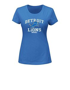 NFL Detroit Lions Womens Greatness Program Short Sleeve Crew Neck Tee XLarge Sport Blue *** You can find more details by visiting the image link.