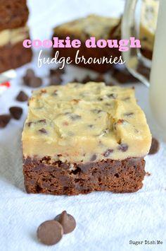 Cookie Dough Fudge Brownies