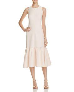 nanette Nanette Lepore Panel Shirred Midi Dress - 100% Exclusive