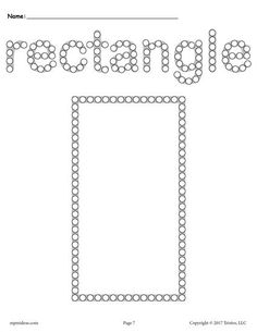 Rectangle worksheets like this one are perfect for toddler age, preschool, and kindergarten. Not only will this rectangle Q-tip painting printable help with shape recognition, but it's also great. Free Preschool, Preschool Curriculum, Preschool Worksheets, Math Activities, Preschool Activities, Toddler Preschool, Preschool Shape Crafts, Shapes Worksheets, Free Printable Worksheets