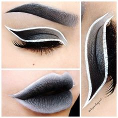 make up black and white by #arseniclover