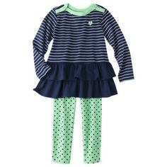 Just One You™Made by Carter's® Infant Toddler Girls' Top and Bottom Set - Blue/Green