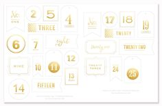 Gold Advent Countdown Tags - Simple as That